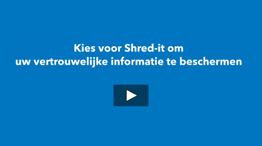Screencapture of Shred-it Process Video with question text